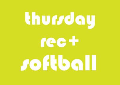 Softball Men's Rec+ Thursday
