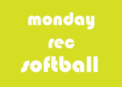 Softball Men's Rec Monday