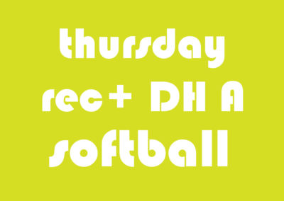 Softball Men's Rec+ DH A Thursday