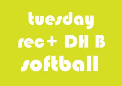 Softball Men's Rec+ DH B Tuesday