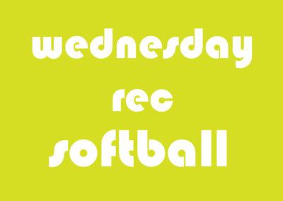 Softball Men's Rec Wednesday